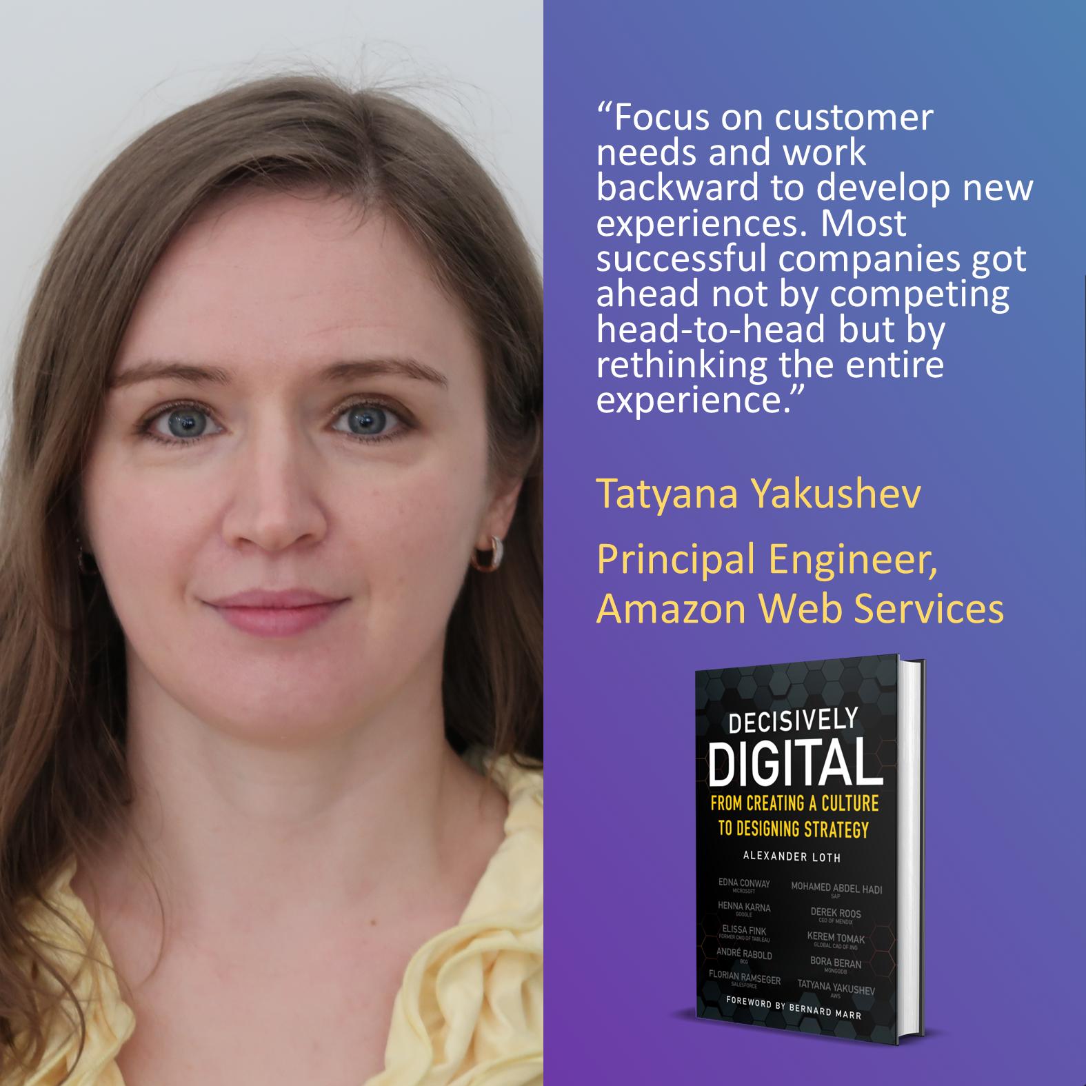 Tatyana Yakushev, Amazon Web Services