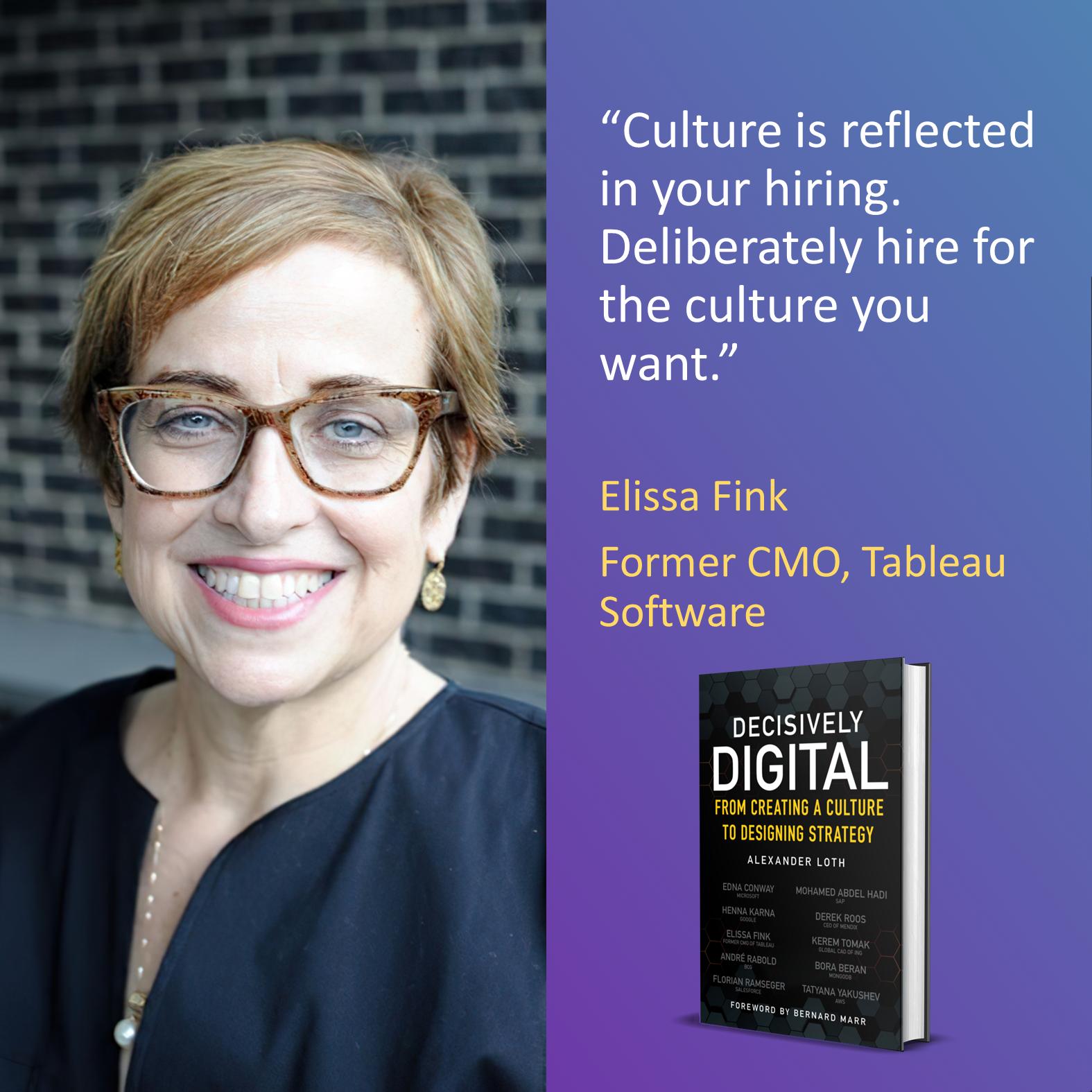 Elissa Fink, Former CMO of Tableau Software